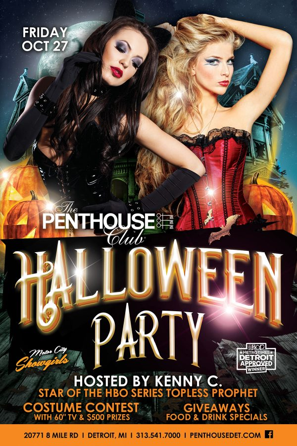 Penthouse Halloween Party New Girls
